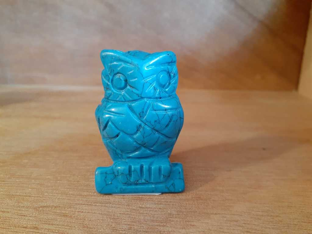 Animal Owl Howlite