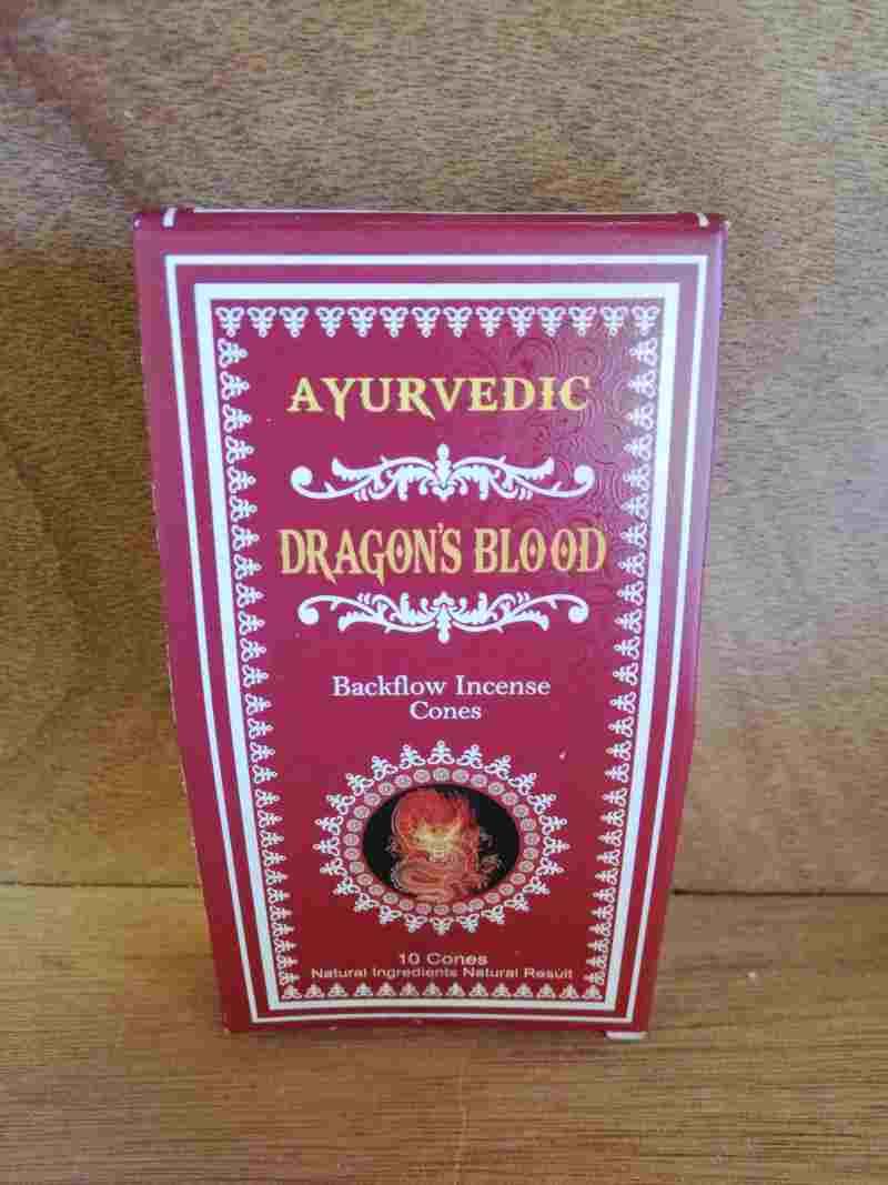 AYURVEDIC DRAGON'S BLOOD BACKFLOW 10 CONES
