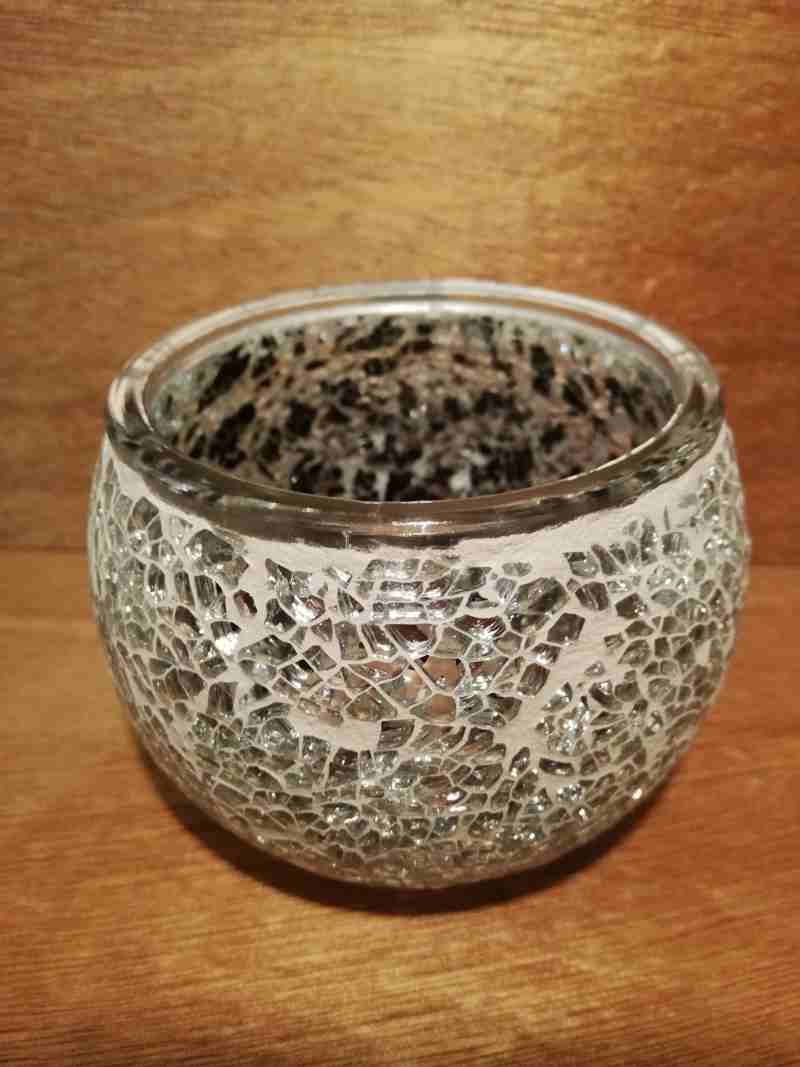 TEALIGHT CANDLE HOLDER CLEAR
