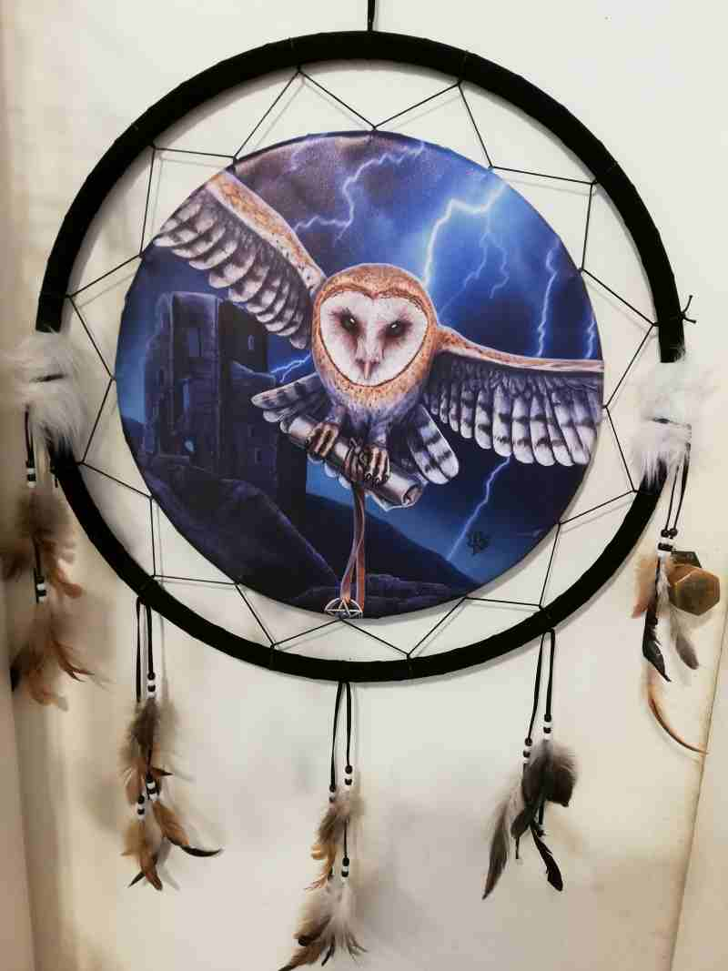 DREAM CATCHER OWL XL 45CM
