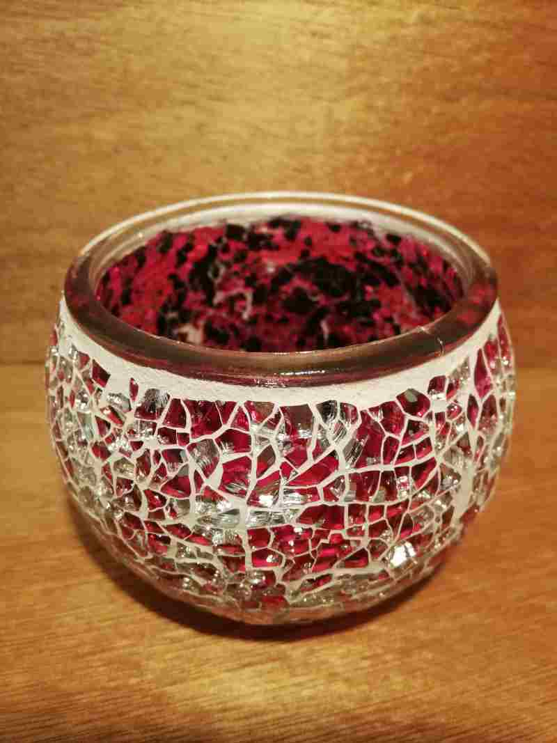 TEALIGHT CANDLE HOLDER PINK