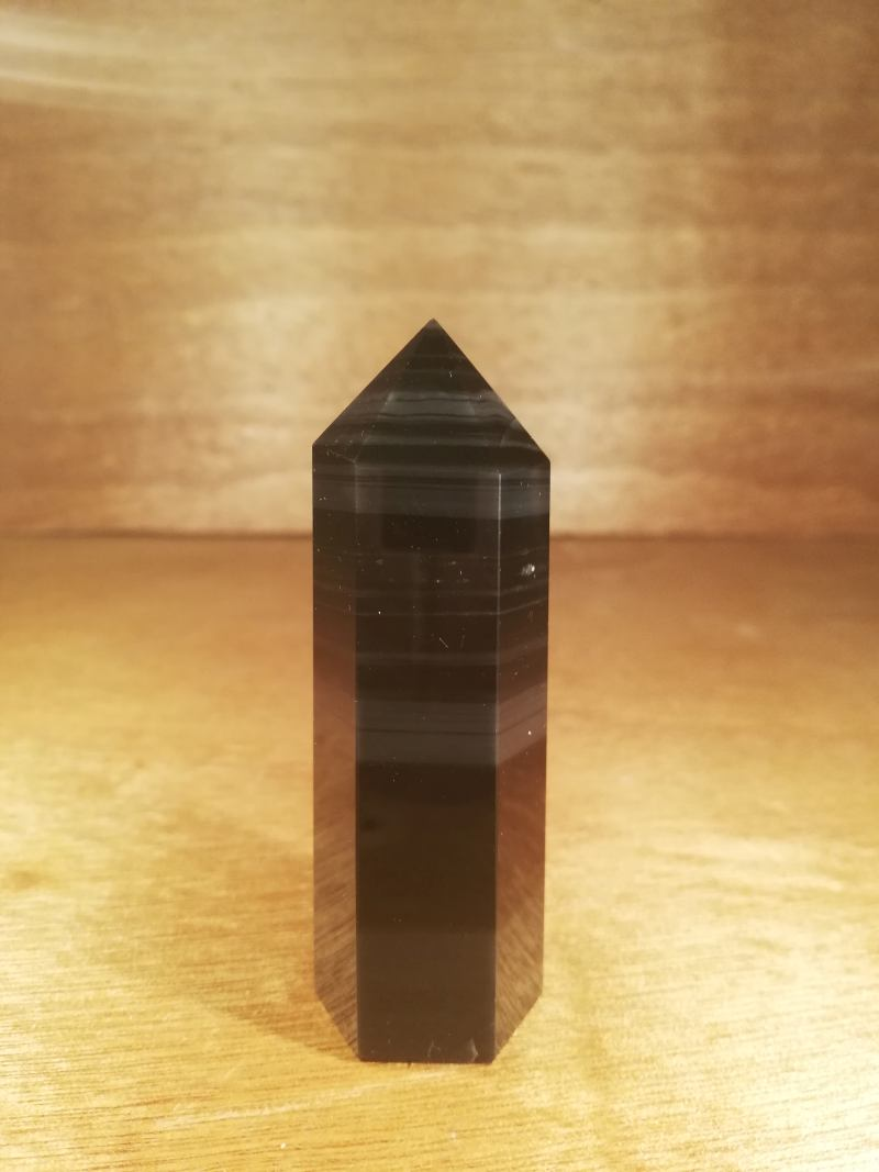 OBSIDIAN BANDED TOWER 75MM