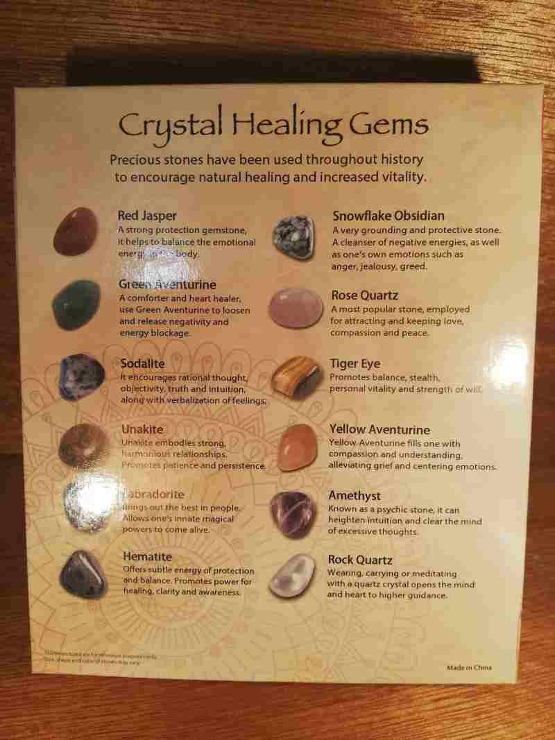 CRYSTAL HEALING GEMSTONE SET
